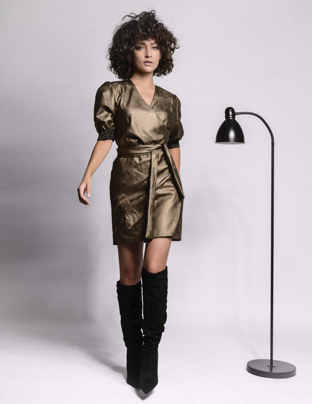 Jeanne Bronze Dress