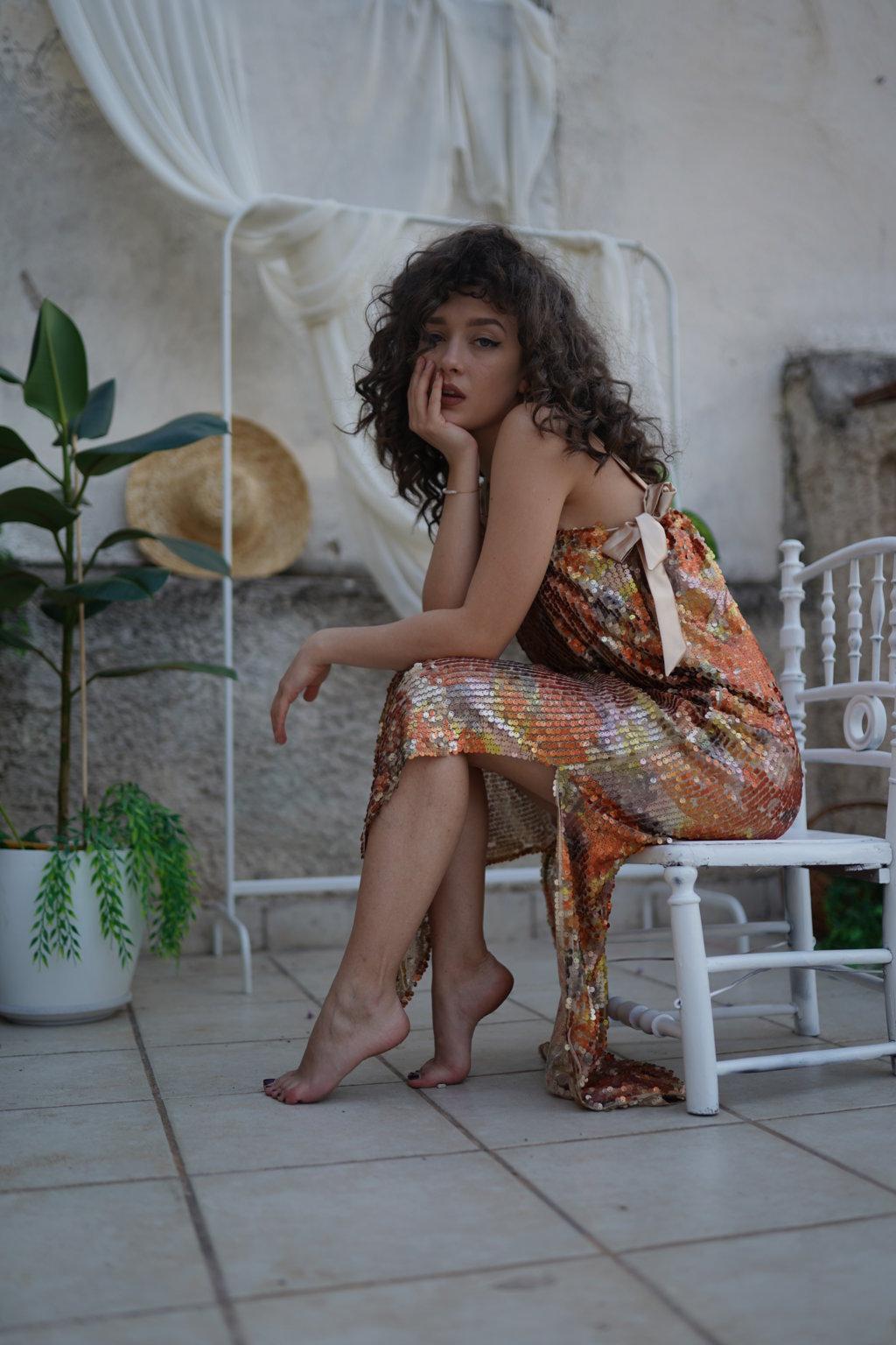 Juliana Sequined Midi Dress
